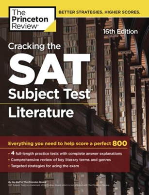Cracking the SAT Subject Test in Literature, 16th Edition  -     By: Princeton Review