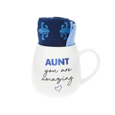 Aunt You Are Amazing Mug and Sock Set  -