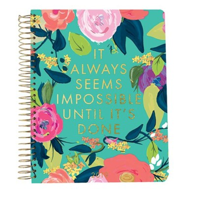 2019 It Always Seems Impossible Until It's Done, 28 Month Planner, Small  -