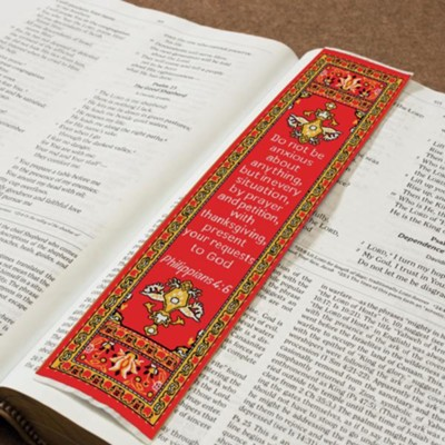 Be Anxious for Nothing, Carpet Bookmark  -