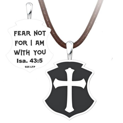 Fear Not Pendant, Sterling Silver with Adjustable Cord  -
