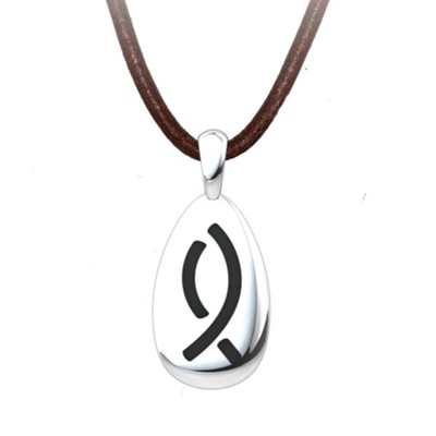 Fisher Pendant, Sterling Silver with Adjustable Cord  -