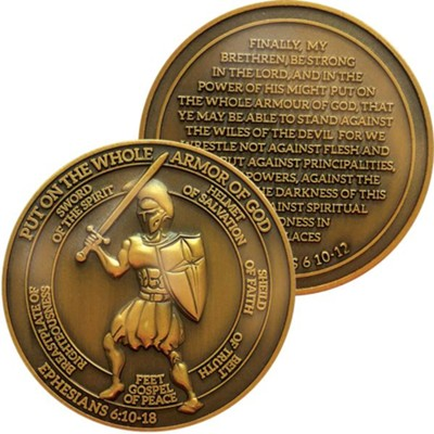 Armor of God Challenge Coin  -