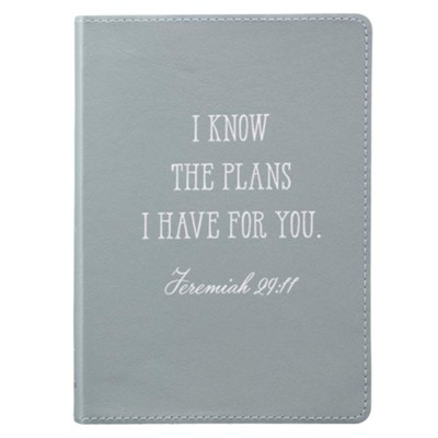 I Know the Plans I Have For You Handy-Sized Journal, Genuine Leather, Blue  -