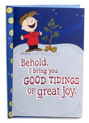 Good Tidings of Great Joy, Peanuts, Christmas Cards, Box of 18  -