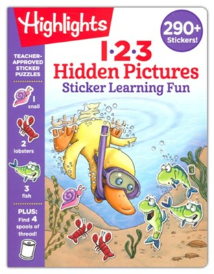 123 Hidden Pictures Sticker Learning Fun  -