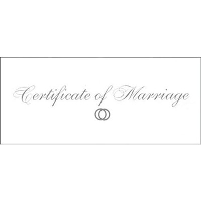 Certificate of Marriage  -