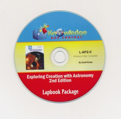 Lapbook Package PDF CD-ROM for Apologia's Exploring Creation with Astronomy (2nd Edition)  -     By: Cyndi Kinney