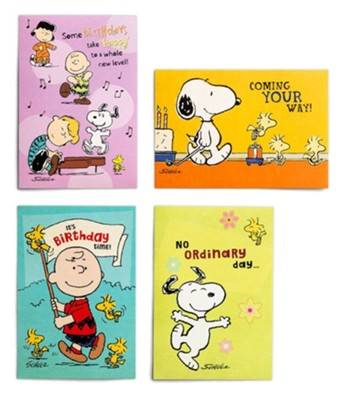 Birthday, Peanuts Cards, Box of 12   -