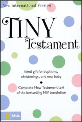 NIV Tiny Testament Bible, Blue  -