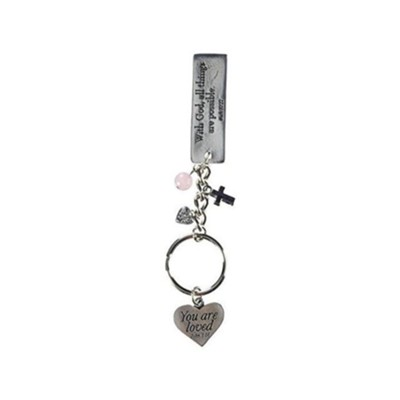 With God All Things Are Possible, Keyring with Charms   -