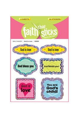 God Is Love Stickers  -