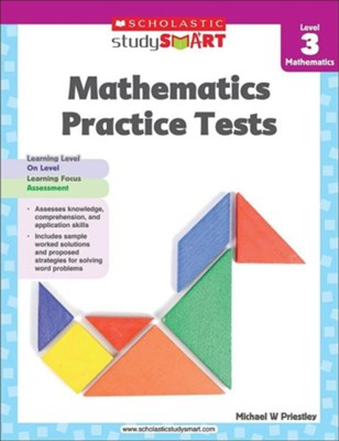 Scholastic Study Smart Mathematics Practice Tests Level 3  -