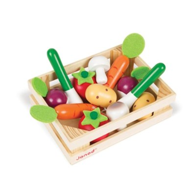 Wooden Vegetables Crate, 12 Pieces  -