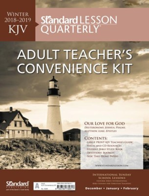 Standard Lesson Quarterly: KJV Adult Teacher's Convenience Kit, Winter 2018-19  -