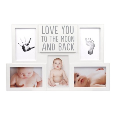 Love You To The Moon And Back, Baby Prints, Collage Photo Frame  -