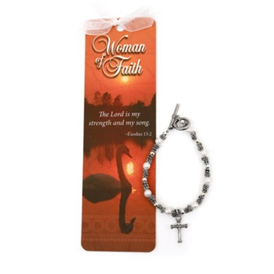 Beads of Wisdom Bracelet & Bookmark: Woman of Faith      -