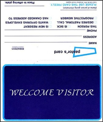 Welcome Visitor (Form WV7), Pkg Of 100   -