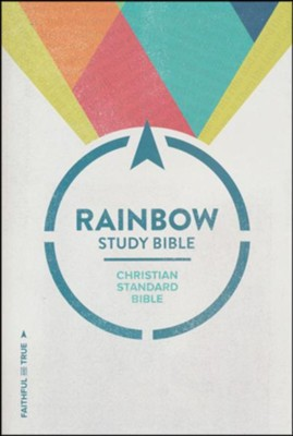 CSB Rainbow Study Bible, Black and Tan LeatherTouch, Thumb-Indexed  -
