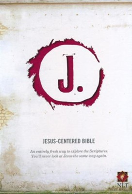 Jesus-Centered Bible NLT, Cranberry  -