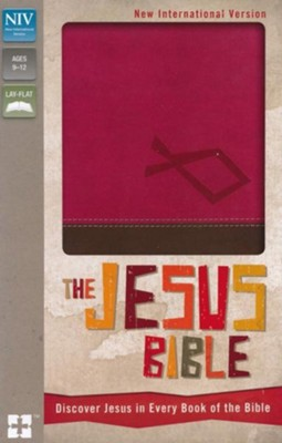 NIV The Jesus Bible: Discover Jesus in Every Book of the Bible, Italian Duo-Tone, Hot Pink/Chocolate  -
