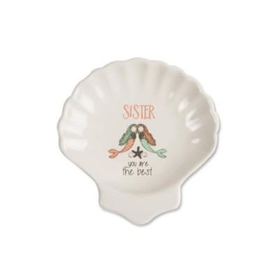 Sister You are the Best, Keepsake Shell Plate  -