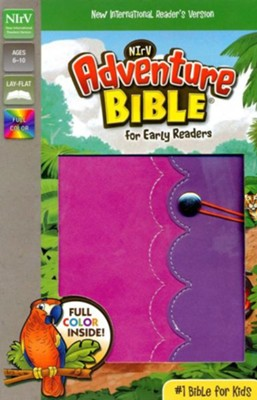 NirV Adventure Bible for Early Readers, Italian Duo-Tone, Elastic Closure, Amethyst/Pink  -     By: Lawrence O. Richards