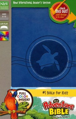 NIrV Adventure Bible for Early Readers, Italian Duo-Tone, Blueberry  -     By: Lawrence O. Richards