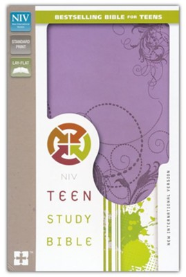 NIV Teen Study Bible, Leather Bound, Spring Violet   -     By: Lawrence O. Richards, Sue W. Richards