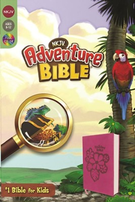 NKJV Adventure Bible, Italian Duo-Tone, Raspberry  -