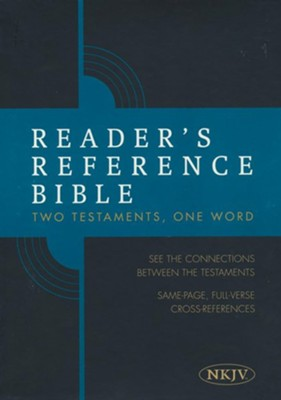 Reader's Reference Bible: NKJV Edition, Tan Cloth Over Board  -