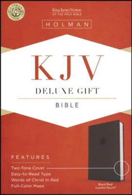 KJV Deluxe Gift Bible, Black LeatherTouch  -