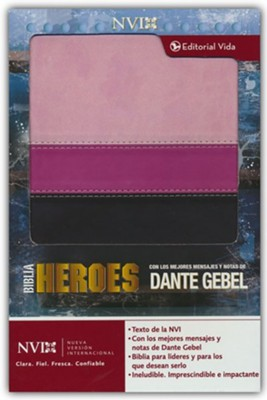 Biblia NVI Heroes con Dante Gebel, Piel Imit. Rosada/Marron  (Heroes Bible Dante Gebel, Imit. Leather Pink/Brown)  -