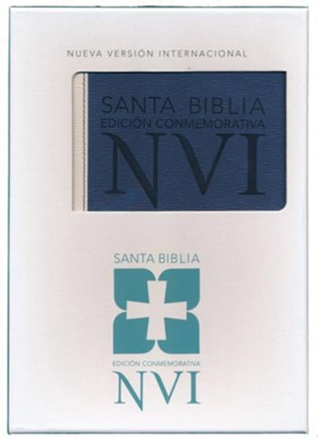 Santa Biblia NVI Ed. Conmemorativa, Piel Imitada  (NVI Deluxe Larger Text Bible, Soft Leather-Look)  -