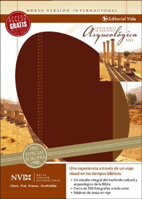 La Biblia NVI Arqueológica, Piel Especial Vino  (NVI Archaeological Bible, Bonded Leather Burgundy)  -