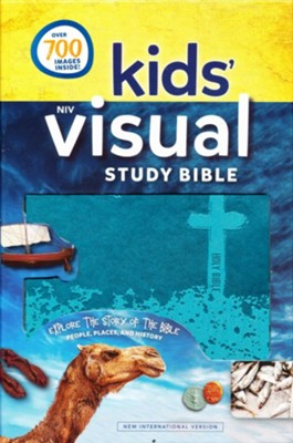 NIV Kids' Visual Study Bible, Imitation Leather, Teal  -