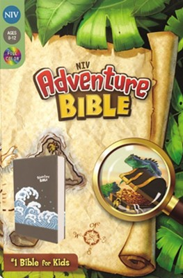 NIV Adventure Bible, Imitation Leather, Gray  -     Edited By: Lawrence O. Richards