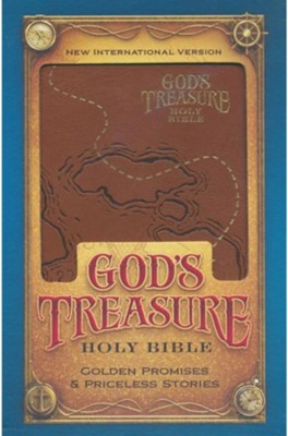 NIV God's Treasure Holy Bible Dark Tan, Imitation Leather  -