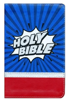 NIrV Super Heroes Backpack Bible, Imitation Leather  -