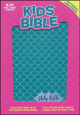 KJV Kids Bible, Aqua LeatherTouch  -