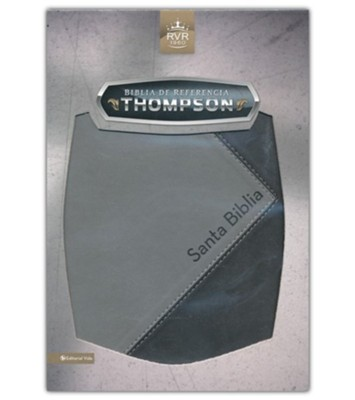 Biblia de referencia Thompson RVR 1960 con Indice, Italian Duo-Tone, Black/ Gray, With Thumb Index  -