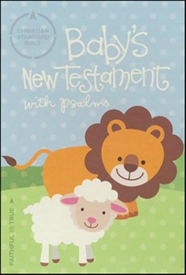 CSB Baby's New Testament with Psalms, White Imitation Leather  -