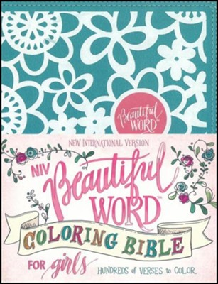 NIV Beautiful Word Coloring Bible for Girls Teal, Imitation Leather  -