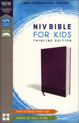 NIV Bible for Kids, Imitation Leather, Purple  -