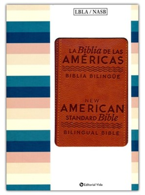Biblia Bilingue LBLA/NASB, Piel Imit. Marrón  (LBLA/NASB Bilingual Bible, Brown Imit. Leather)  -