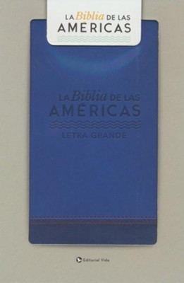Biblia LBLA Letra Gde. Tam. Manual, Piel Imit. Azul  (LBLA Handy-Size Large Print Bible, Imit. Leather Blue)  -