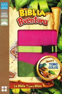 Biblia Aventura NVI, Piel Simil, Rosado/Verde  (NVI Adventure Bible, Imitation Leather Pink/Green)  -