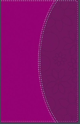 NVI Thinline Bible--soft leather-look, pink  -