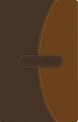NVI Thinline Bible--soft leather-look, brown  -