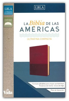 Biblia Ultrafina Compacta LBLA, Piel Imit. Vino  (LBLA UltraThin Compact Bible, Soft Leather-Look, Burgundy) - Slightly Imperfect  -